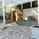 Custom made water feature and Pergola