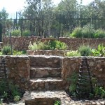 Natural stone built up organic vegetable garden