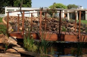 Custom built wooden bridge