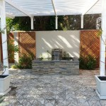 Custom made water feature with cladding